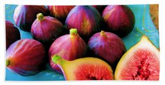 Beach Towel featuring the photograph Fruit - Jersey Figs - Harvest by Susan Carella