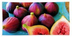 Fruit - Jersey Figs - Harvest Beach Towel by Susan Carella