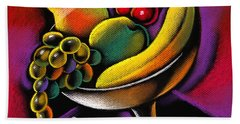 Fruits Beach Towel by Leon Zernitsky