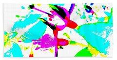 Fuchsia Beach Sheet by Barbara Moignard