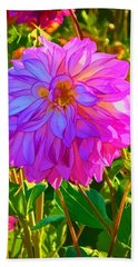 Beach Sheet featuring the photograph Fuchsia Delight by Ken Stanback