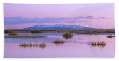 Full Moon Rising Over Sangre De Cristo Beach Towel