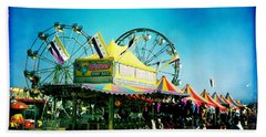 Beach Towel featuring the photograph Fun At The Fair by Nina Prommer