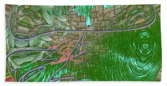 Beach Towel featuring the digital art Garden Wall by George Pedro