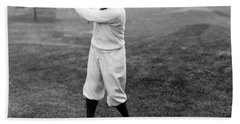 Beach Towel featuring the photograph Gene Sarazen - Professional Golfer by International  Images