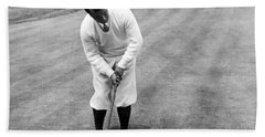 Beach Towel featuring the photograph Gene Sarazen Playing Golf by International  Images