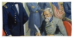 General Ulysses Grant Accepting The Surrender Of General Lee At Appomattox  Beach Towel