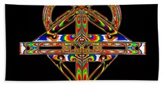 Beach Towel featuring the photograph Geometry Mask by Steve Purnell