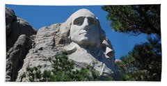 George Washington Face  Beach Sheet by Dany Lison