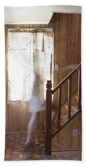 Ghost On The Stairs Thunder Bay Ontario Beach Towel