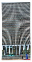 Beach Towel featuring the photograph Giant Bank Of M And T by Michael Frank Jr