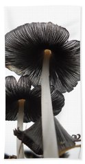 Giant Mushrooms In The Sky Beach Towel by Kent Lorentzen