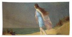 Girl On The Beach  Beach Towel