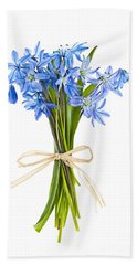 Blue Wildflower Bouquet Beach Towel