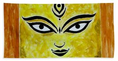 Beach Sheet featuring the painting Goddess Kali by Sonali Gangane