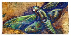 Gold Moth Beach Towel