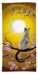 Golden Afternoon Sakura Beach Towel