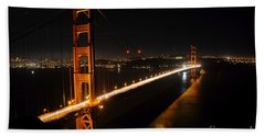 Golden Gate Bridge 2 Beach Sheet by Vivian Christopher