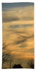 Golden Hue Beach Towel by Bonnie Myszka