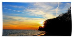 Beach Sheet featuring the photograph Golden Sunset by Davandra Cribbie