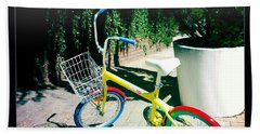Beach Towel featuring the photograph Google Mini Bike by Nina Prommer