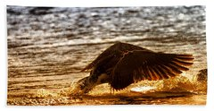Goose Attack Beach Towel