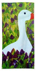 Beach Towel featuring the painting Goose by Barbara Moignard