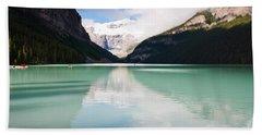 Gorgeous Lake Louise Beach Sheet by Cheryl Baxter