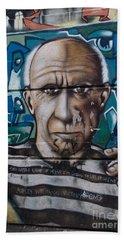 Beach Sheet featuring the digital art Graffii Alley by Carol Ailles