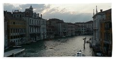 Beach Sheet featuring the photograph Grand Canal At Dusk by Laurel Best