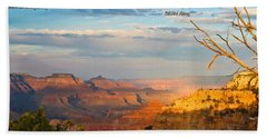 Grand Canyon Splendor - With Quote Beach Towel
