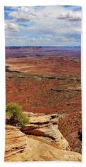 Grand View Point Overlook In Canyonlands National Park Beach Towel