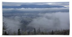 Beach Towel featuring the photograph Grants Pass Weather by Mick Anderson