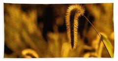 Grass In Golden Light Beach Towel