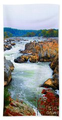 Great Falls On The Potomac River In Virginia Beach Towel