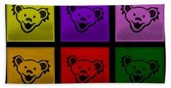 Greatful Dead Dancing Bears In Multi Colors Beach Towel