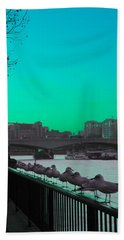 Green Day In London Beach Towel by Jasna Buncic