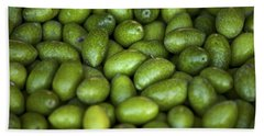 Green Olives Beach Towel