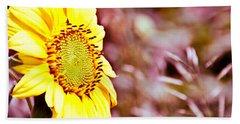 Greeting The Sun. Beach Sheet by Cheryl Baxter