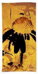 Grunge  Daisy Art Beach Sheet