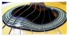 Guitar Warp Beach Sheet by Anne Mott