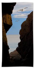 Beach Towel featuring the photograph Gulls Of Acadia by Brent L Ander