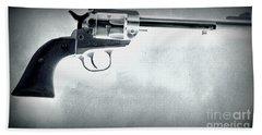 Beach Towel featuring the photograph Guns And Leather 3 by Deniece Platt