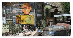 Hackberry Signs   Arizona Route 66 Beach Towel