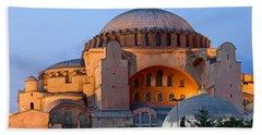Hagia Sophia At Dusk Beach Sheet