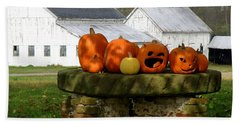 Beach Towel featuring the photograph Halloween Scene by Lainie Wrightson