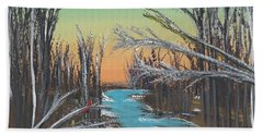 Beach Towel featuring the painting Happy Day by Alys Caviness-Gober