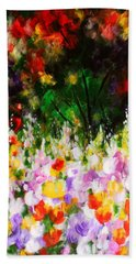 Beach Towel featuring the painting Heavenly Garden by Kume Bryant