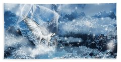 Heavenly Interlude Beach Sheet by Lourry Legarde