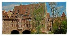 Heilig-geist-spital In Nuremberg Beach Towel